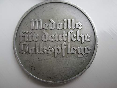 Medaille fur deutsche Volkspfege