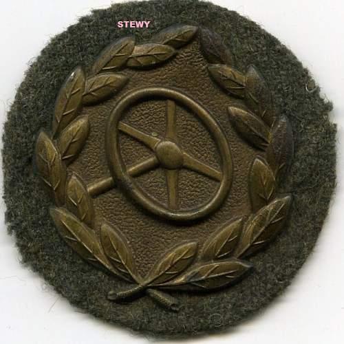 Bronze KBA (Drivers badge)