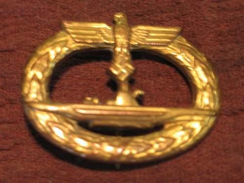 U-Boots Kriegsabzeichen/ U Boat war badge: Fake?