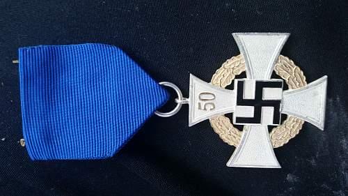 Gausieger Badge, 50 Year Cross