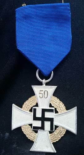 Treue Dienst Ehrenzeichen, 50 Jahre