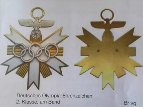 Deutsches Olympia Ehrenzeichen Erster Klasse - real or fake?