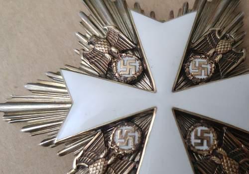 Need opinions on this Grosskreuz des Deutschen Adlerordens ohne Schwerter