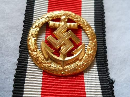 Ehrenblattspange der Kriegsmarine for review