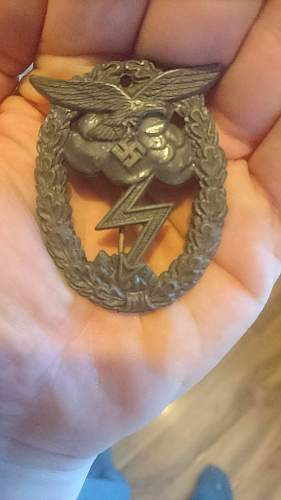 Erdkampfabzeichen der Luftwaffe real oreason fake