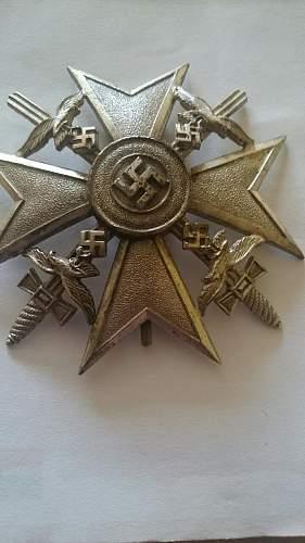Spanienkreuz in Silber mit Schwertern - ask for help