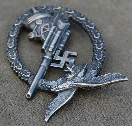 Flakkampfabzeichen der Luftwaffe-flak badge - Good?