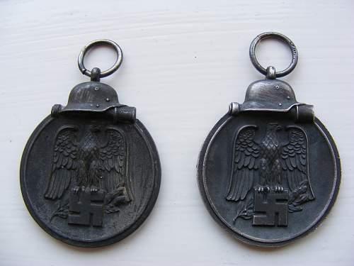 Ostmedaille x3 and Luftschutz-Ehrenzeichen