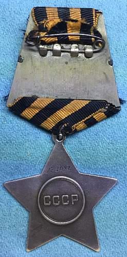 OGIII for a Full Cavalier of Order of Glory