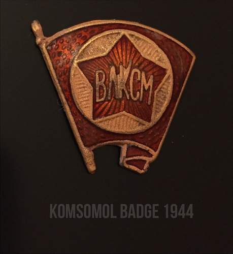 Komsomol Badge 1944