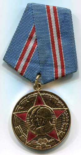 Click image for larger version.  Name:50 Years of the Armed Forces of the USSR Medal.jpg Views:219 Size:179.5 KB ID:116467