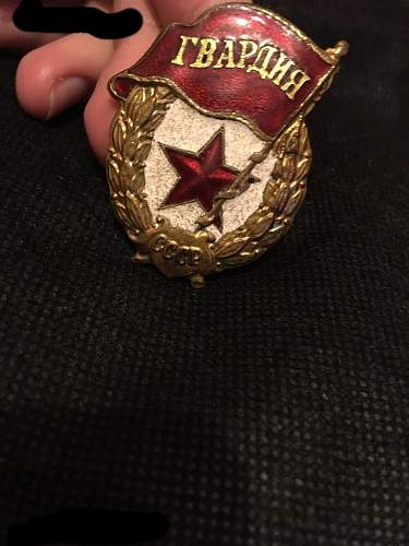 Original Soviet Guard badge??