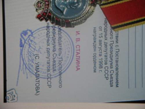 Order of stalin help please