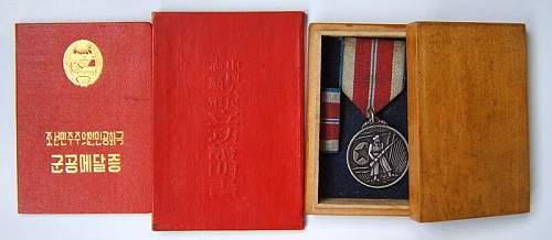 a medal of PLA in korean war