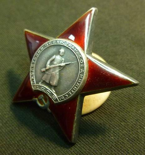 Order of the Red Star - real or not?
