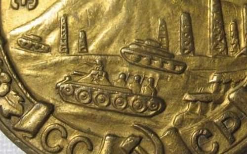 """Defense of Caucasus - """"three rifle"""" medals"""