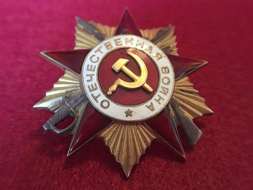 Opinions on Order of the Patriotic War