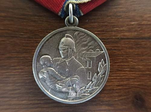 Medal For Courage in a Fire opinions