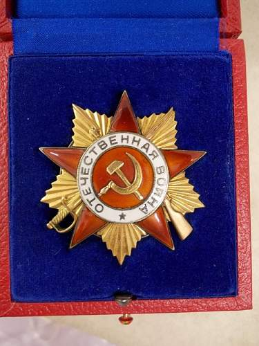 Order Of Patriotic War First Class