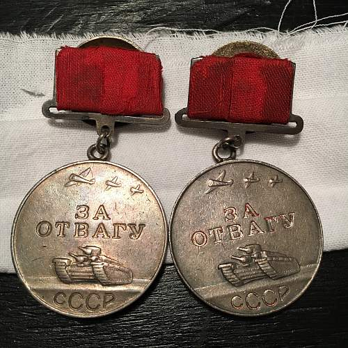 Two peas in a pod, T1 Bravery medals
