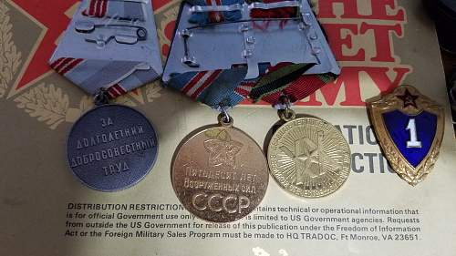A couple of recently purchased medals.