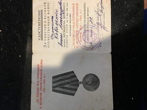 Russian Victory medal Identification help