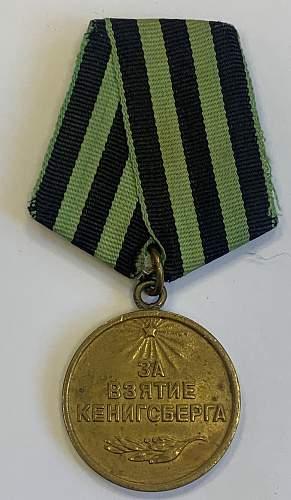 koenigsberg capture medal