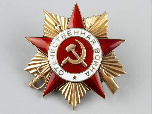 Order of the Great Patriotic War, 1st class, #165829