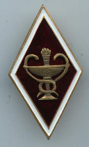 Click image for larger version.  Name:Unknown MEDICAL ACADEMY BADGE 1.JPG Views:67 Size:42.9 KB ID:13439