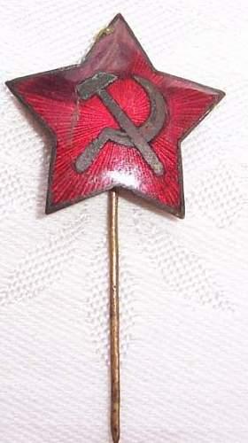 Red Star pin - wartime or postwar?