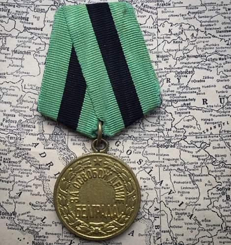 Liberation of Belgrade medal