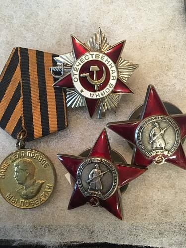 Some Soviet medals