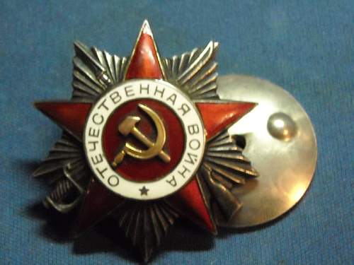 Order of the Patriotic War, original or fake?