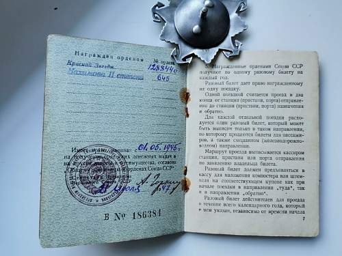 Is this an original Nakhimov II, and document?