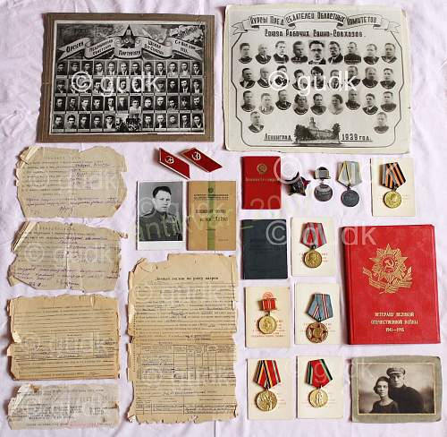 My new collection, one set for major officer served in NKVD, SMERSH,KGB with RESEARECH