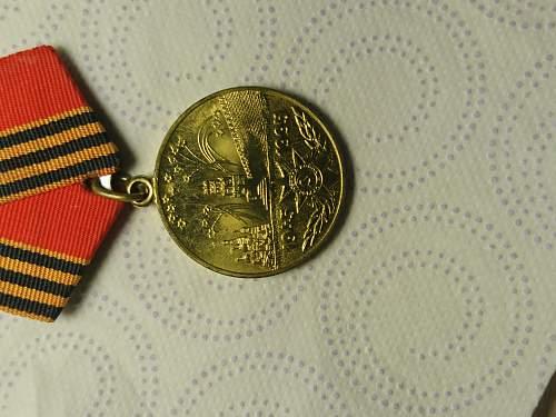 "USSR ""50 Years of Victory in the Great Patriotic War 1941–1945"" medal Original or fake?"