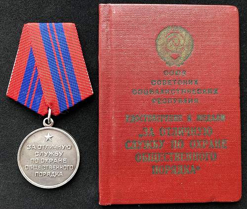 For Distinction in the Protection of Public Order set