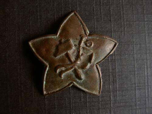 First pattern rkka cap star ,civil war ,ground dug from tsaritsyn