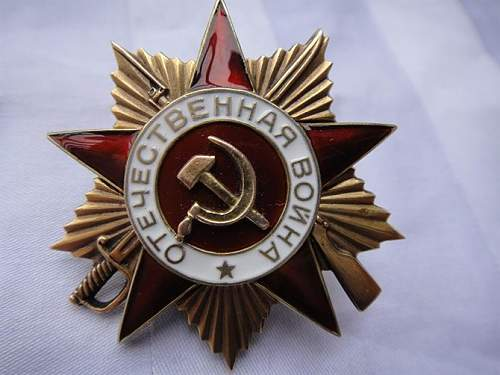 Please help on this Order of the Patriotic War 1st Class