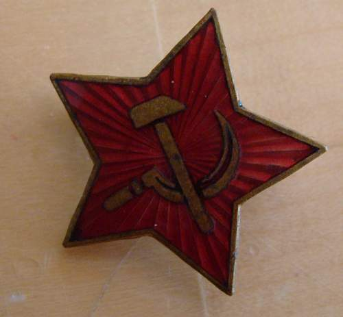 Red Star lapel pin?