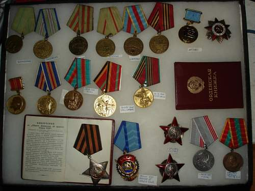 Collection of USSR awards