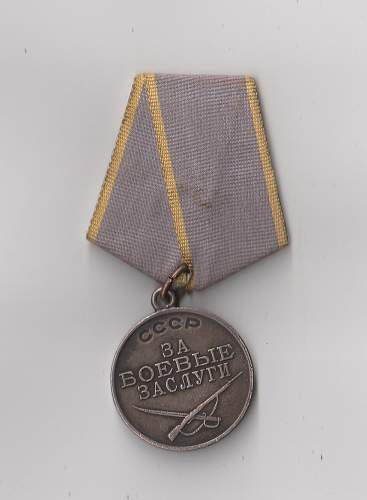 Question about Medal for Combat Service