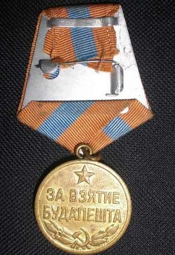 Fake medal for capture Budapest?