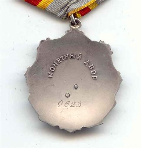 Order of lobour glory 1st class  good/bad
