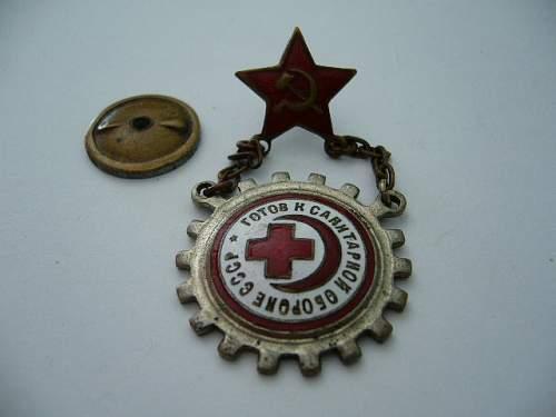 USSR Red cross badge