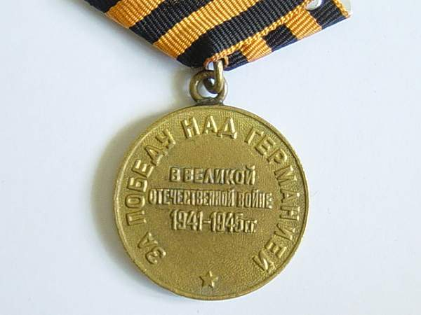 Click image for larger version.  Name:Victory over Germany medal. 003.jpg Views:195 Size:139.1 KB ID:22726