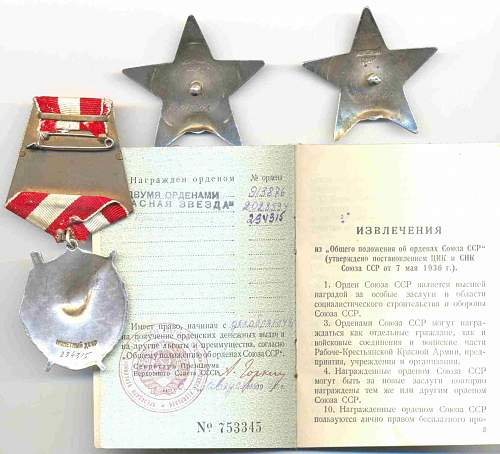 Special topics in the Soviet orders/medalls/badges collecting