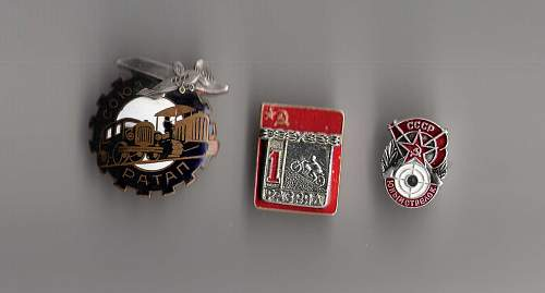 Soviet pins from the 1940´s