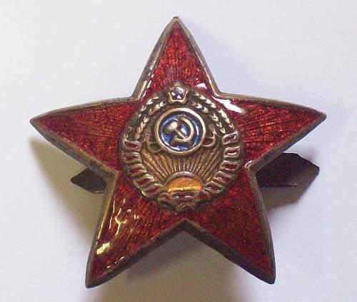 Click image for larger version.  Name:NKVD star obverse.jpg Views:940 Size:49.1 KB ID:27214
