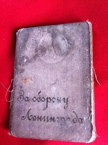 leningrad medal award with book